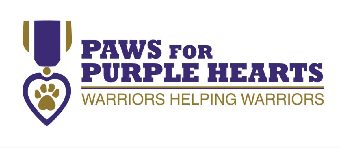 Logo of Paws for Purple Hearts