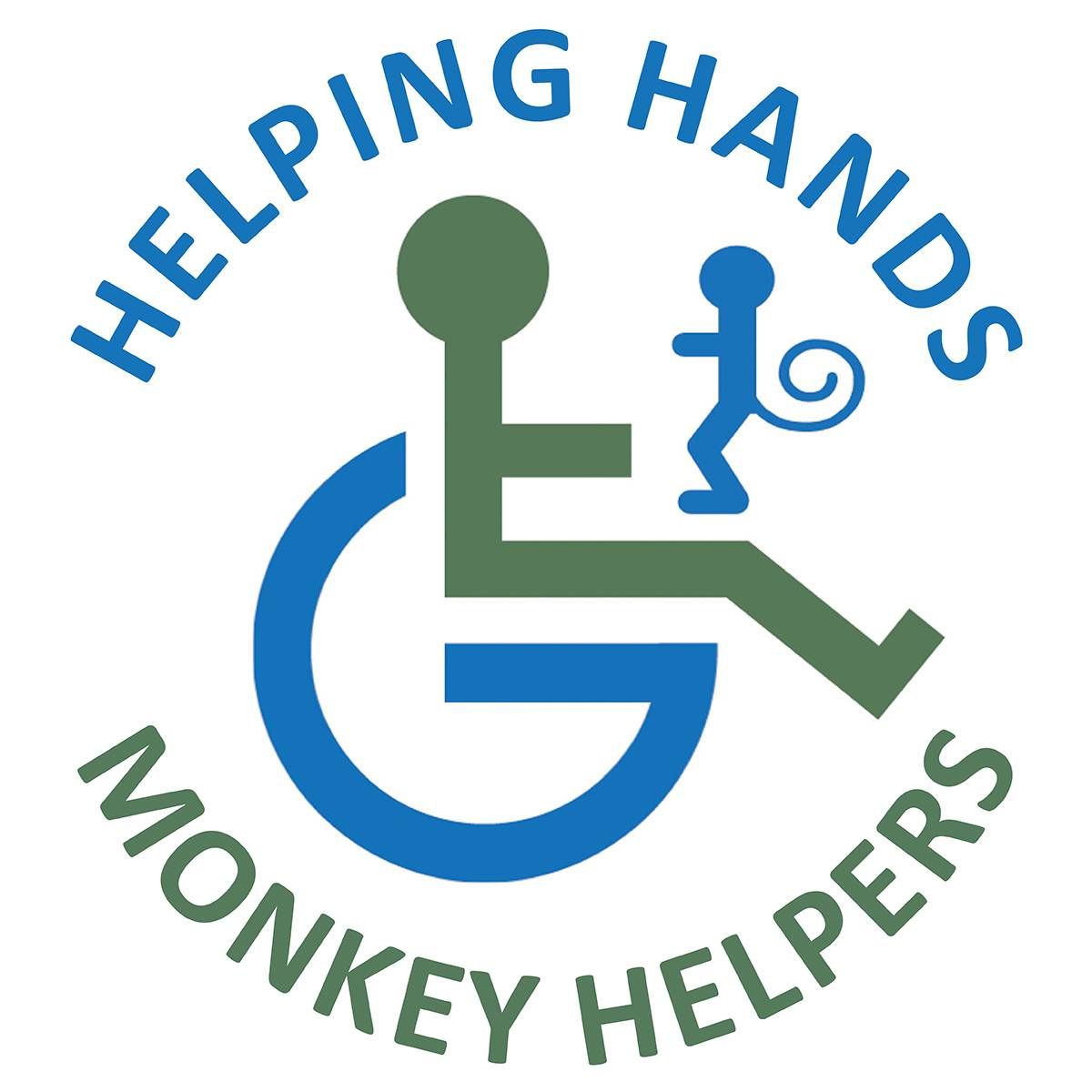 Logo of Helping Hands Monkey Helpers for the Disabled