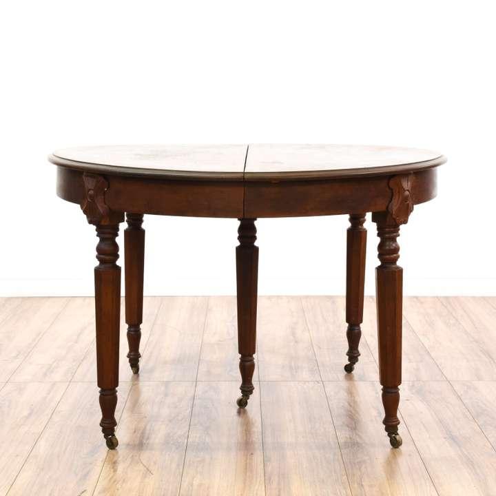 Round Maple Drop Leaf Dining Table W 1 Leaf Loveseat