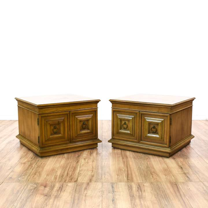 Eastlake Style Carved Marble Top Side Table Loveseat