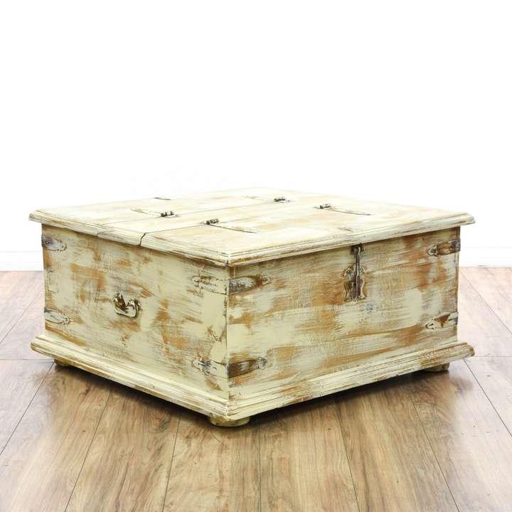 rustic floral wood carved coffee table | loveseat vintage
