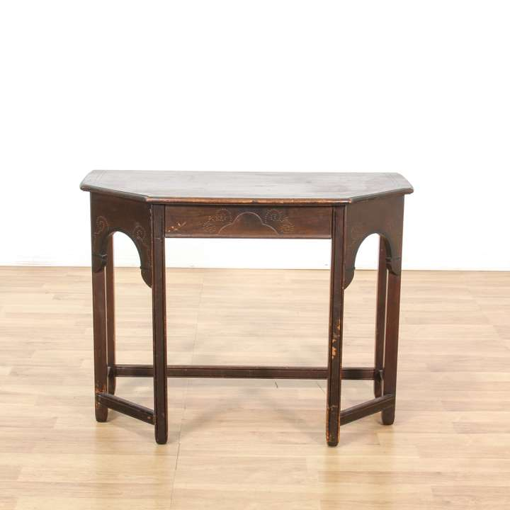 Diamond carved walnut console table sideboard loveseat for Sideboard jam