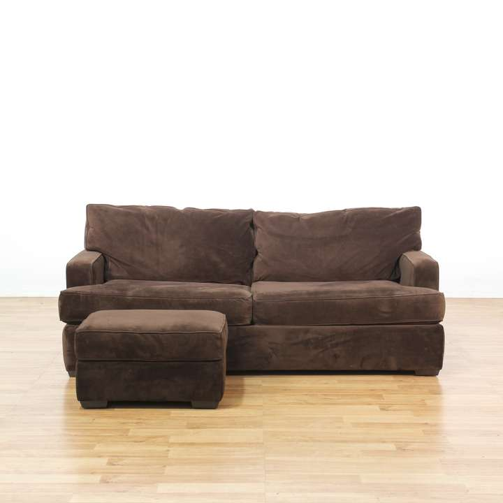 "Sectional Sofa Sale Los Angeles: ""Ethan Allen"" Pink Sofa W/ Ottoman"