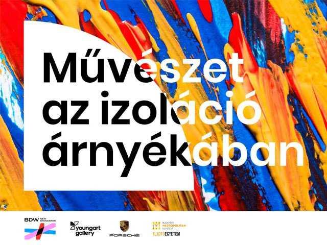 Művészet az izoláció árnyékában - Kiállítás meghívó