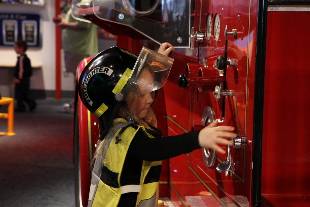 Exhibitions I Can Be Anything Girl Firetruck