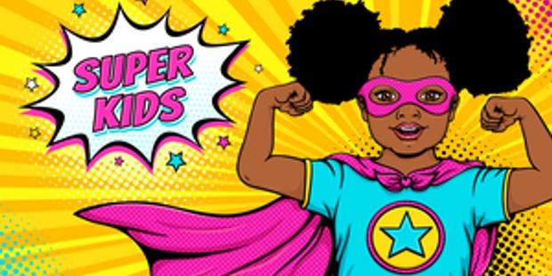 Superhero Comic Book Girl