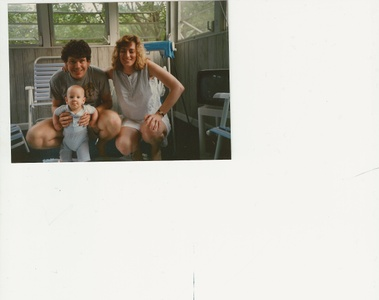 Lisa & Jack with Andrew as a baby