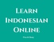 Learn Indonesian Online