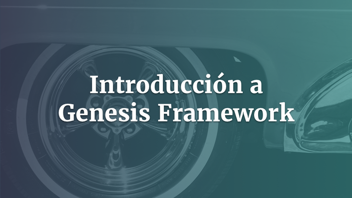 Introducción a Genesis WordPress
