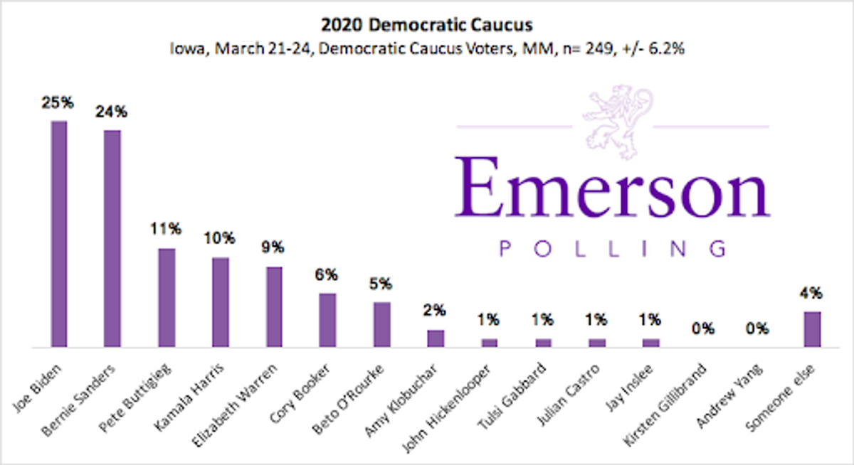 democratic presidential candidates 2020 polls