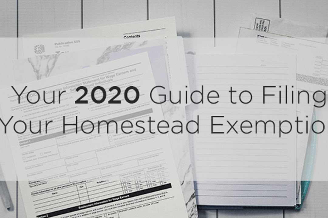 Your 2020 Guide to Filing Your Homestead Exemption