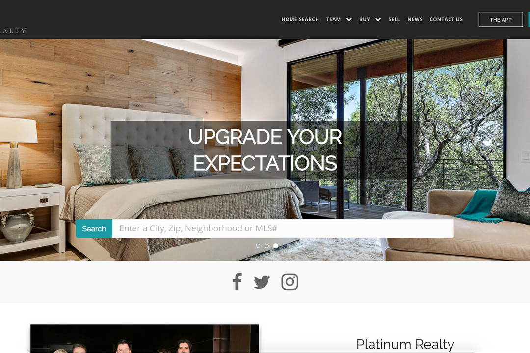RealSavvy Launches Platinum Realty's New Website