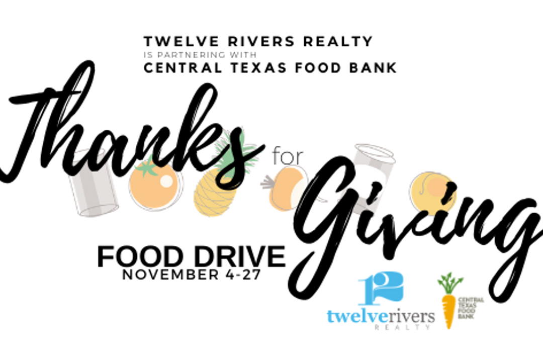 Twelve Rivers Realty Partners with Central Texas Food Bank for Thanks-for-Giving Food Drive