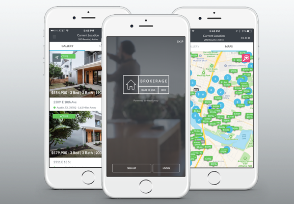 A branded home search experience on the go.