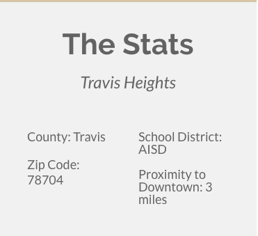 Travis Heights