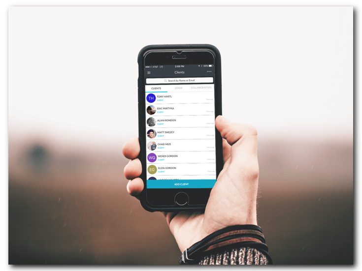 Be more responsive! Real-time client chat with our powerful,  mobile CRM.