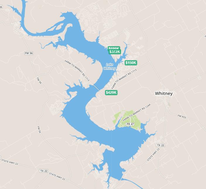 Search Lake Whitney Homes