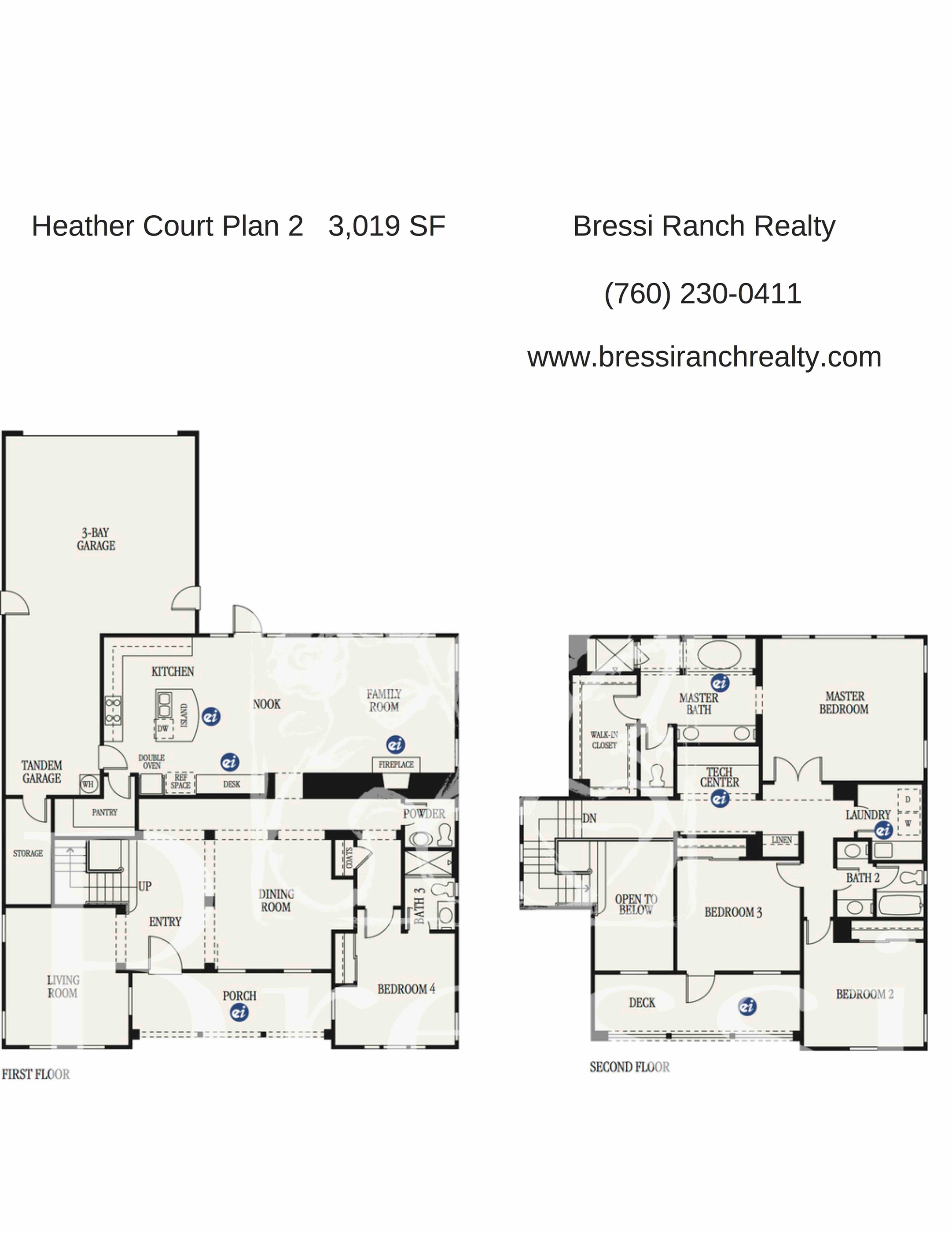 Heather Court Plan 2 Bressi Ranch