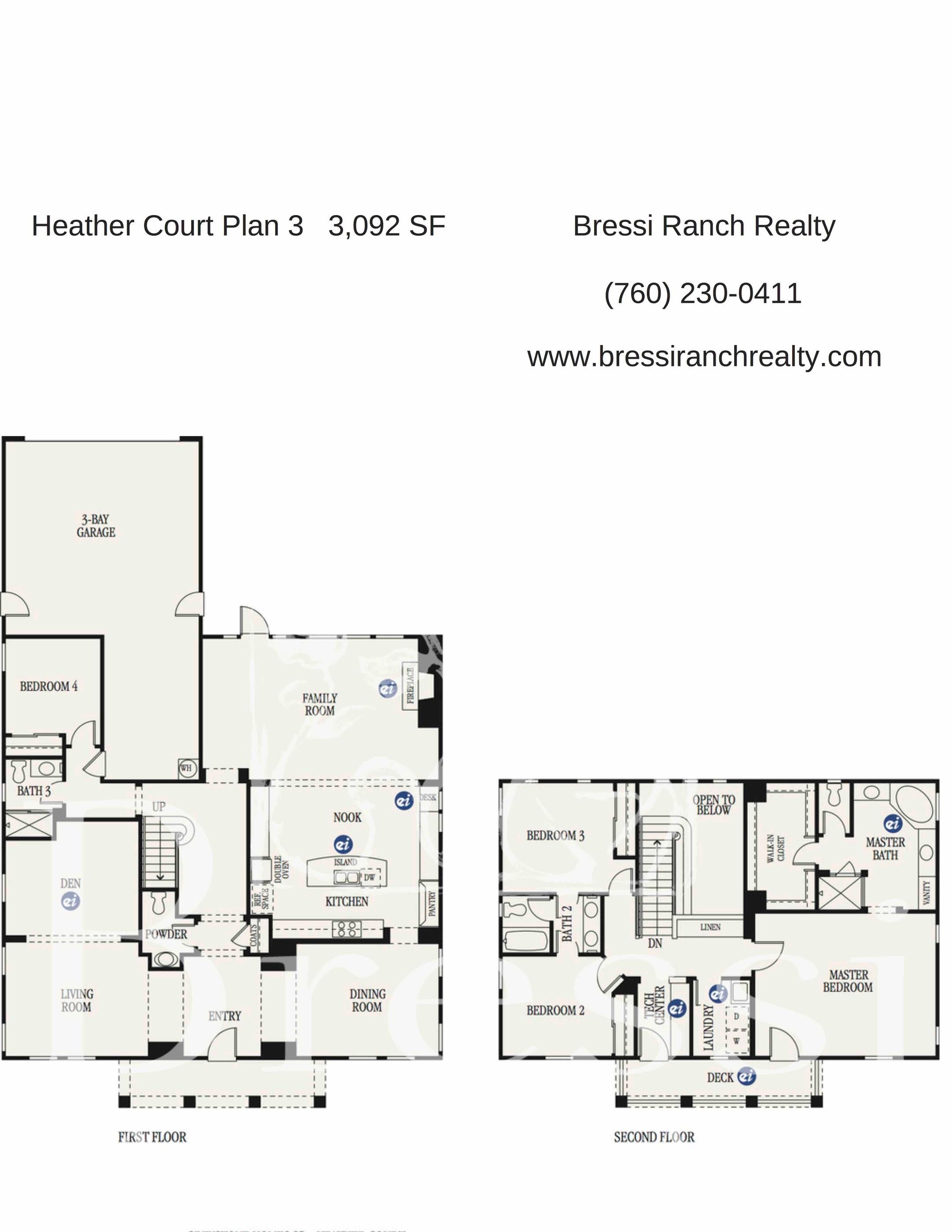 Heather Court Plan 3 Bressi Ranch