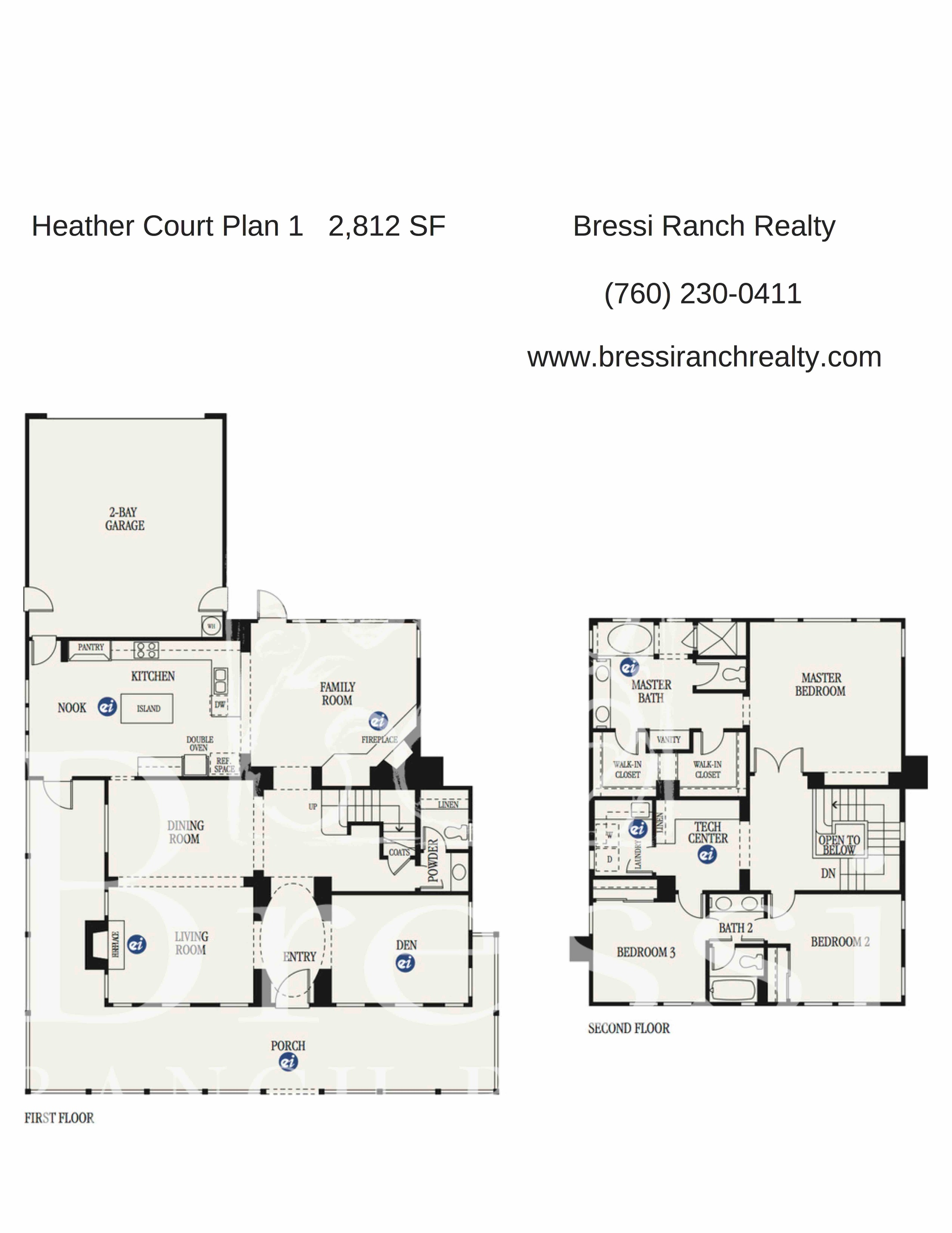 Heather Court Plan 1 Bressi Ranch