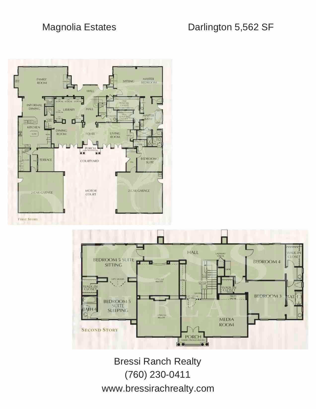 Magnolia Estates Darlington Floor Plan Bressi Ranch