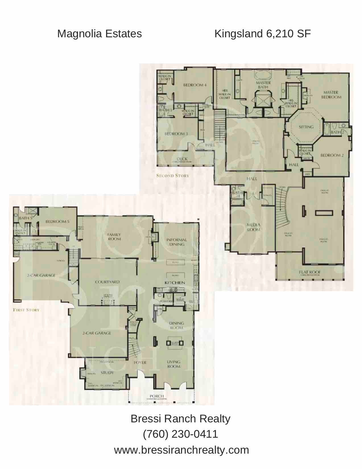 Magnolia Estates Kingsland Floor Plan Bressi Ranch