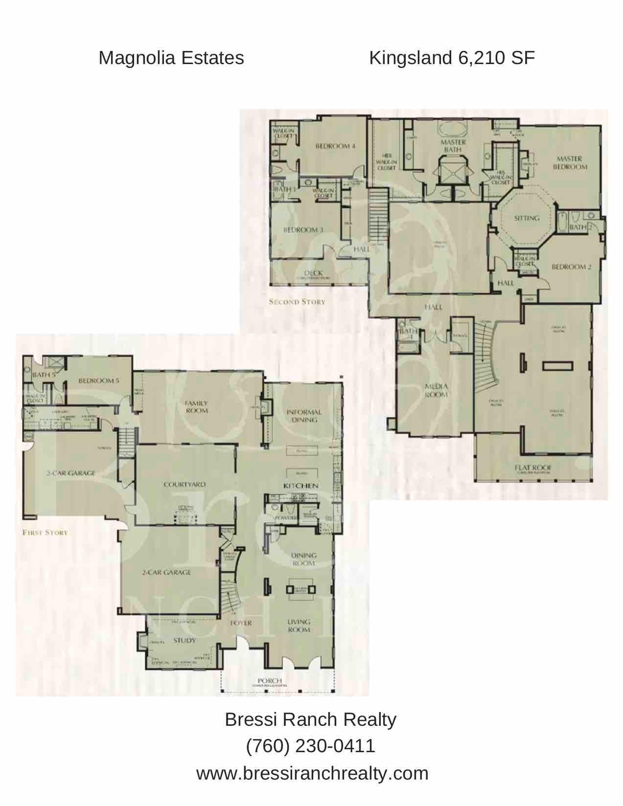 Magnolia Estates Kingsland Floor Plan Bressi Ranch