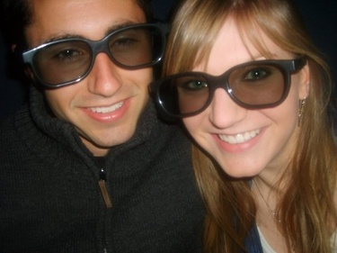One of our first dates - Monsters vs. Aliens in 3-D.