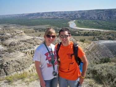 Chris's first visit to Kaitlin's hometown of Williston included a trip to the Badlands - 2009