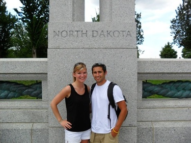Paying homage to the place we met at the WWII Memorial in D.C. - 2010