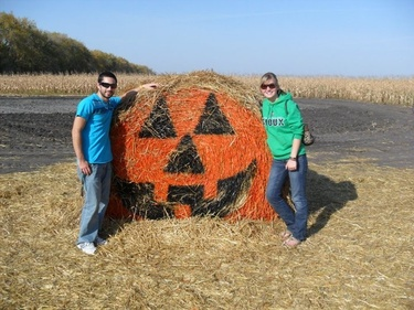 At the pumpkin patch near Grand Forks - 2010