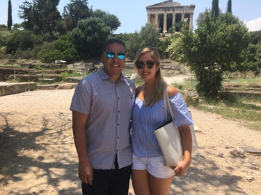 Touring the Acropolis in Athens