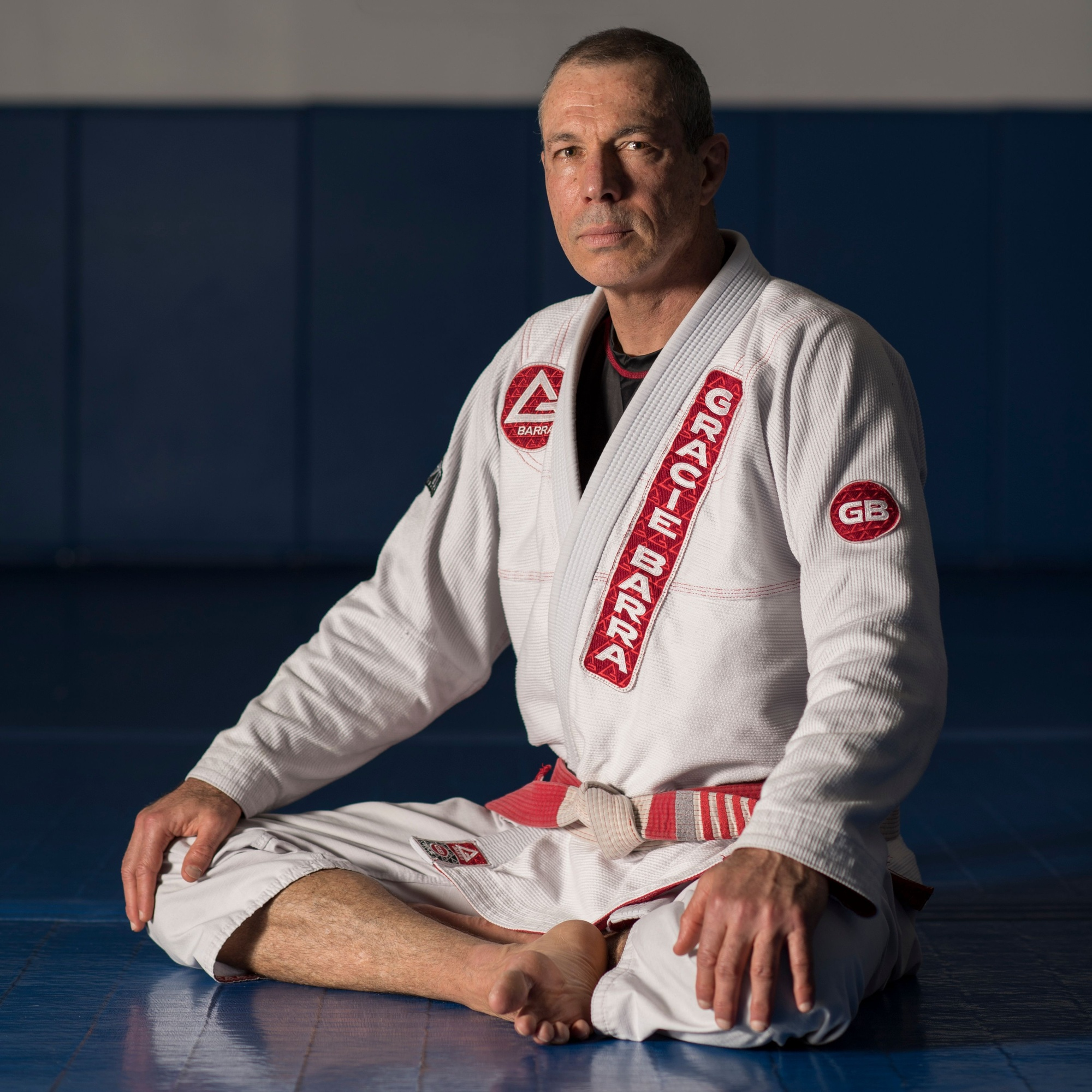 Brazilian Jiu-Jitsu red and white belt 8th degree Carlos Gracie Junior poses for a photo in September of 2016. Son of Carlos Gracie, Carlinhos is the founder of Gracie Barra, Graciemag and IBJJF.