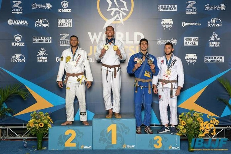 Mahamed Aly with double gold at BJJ Worlds 2015