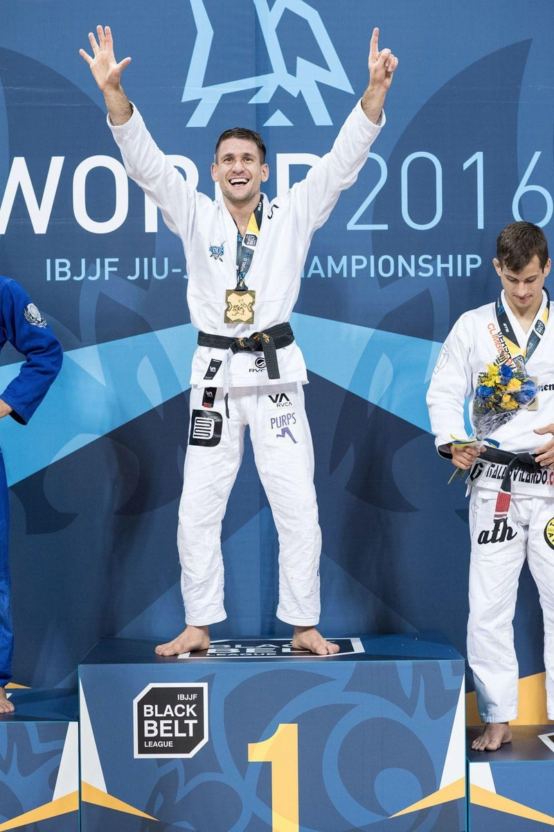 Rafael Mendes celebrates his sixth world title