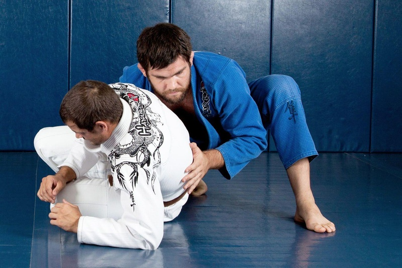 Robert Drysdale teaching a choke from the back