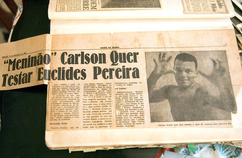 "The highlight is the September 7th 1968 issue of Bahia's ""A Tarde"": the day that the ""Diabo Louro"" defeated Carlson Gracie, by judge decision"