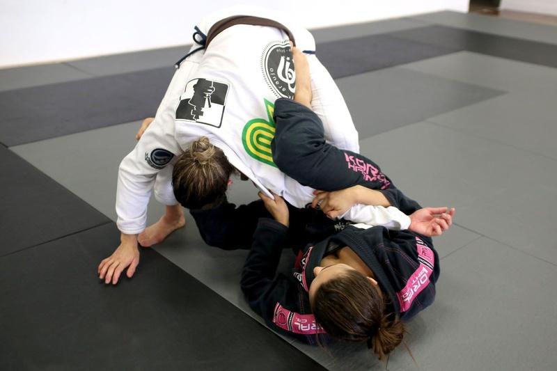 Brazilian Jiu-Jitsu lesson: Michelle Nicolini teaches triple attack from half-spider guard
