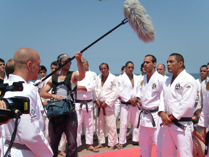 The day that BJJ idol Rickson Gracie recorded the television show Fight Quest