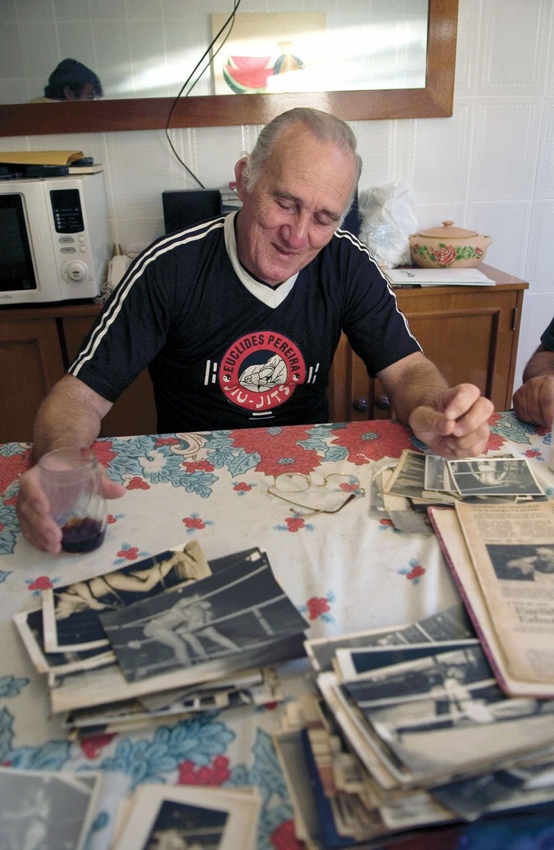 Euclides Pereira saves all the newspaper clippings of his time
