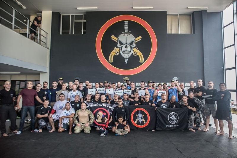 Brazilian Jiu-Jitsu and MMA fighters train with Brazilian Police Special Forces in Rio de Janeiro