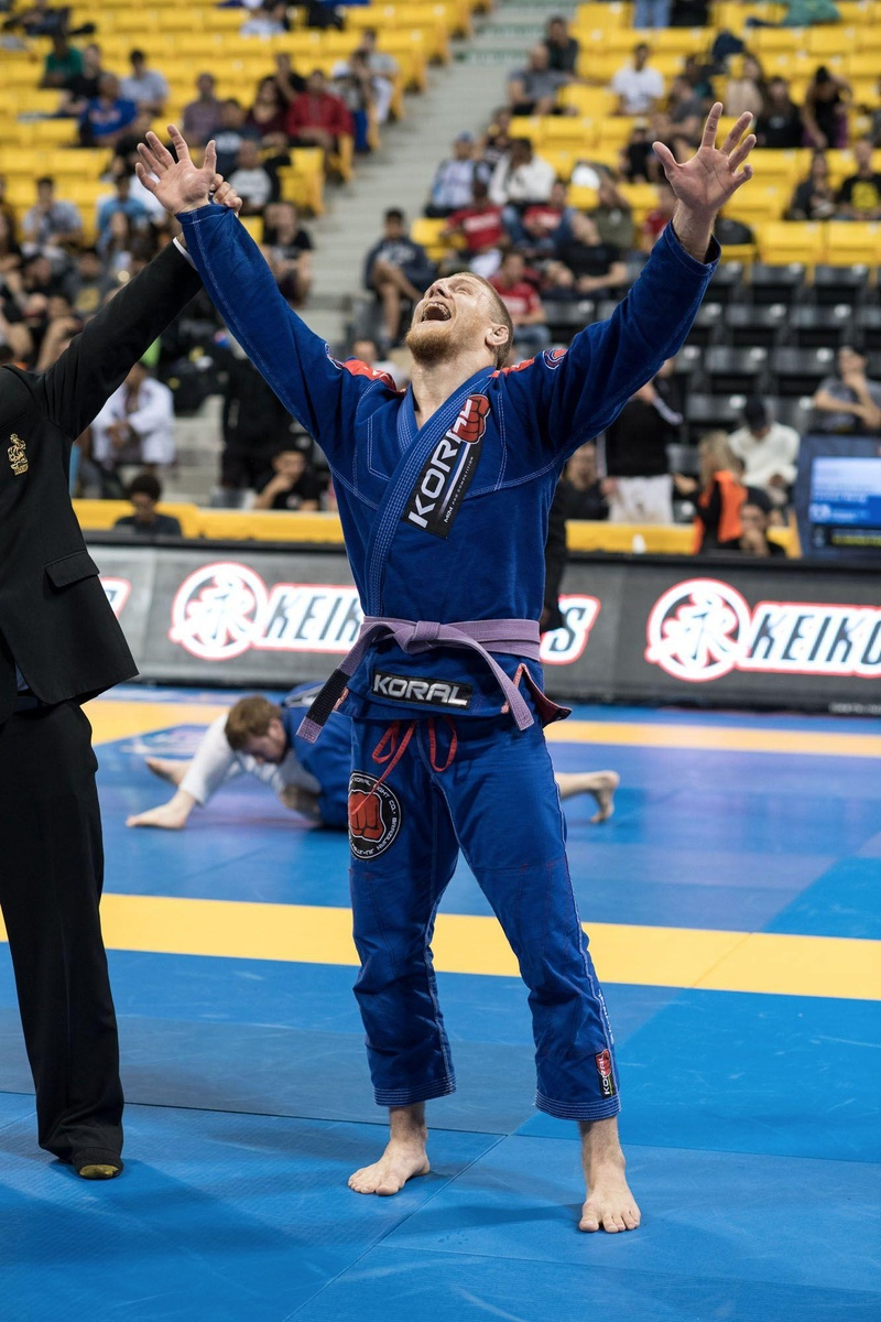 BJJ Worlds 2016: Fabio Alano conquers purple belt ultra-heavyweight male