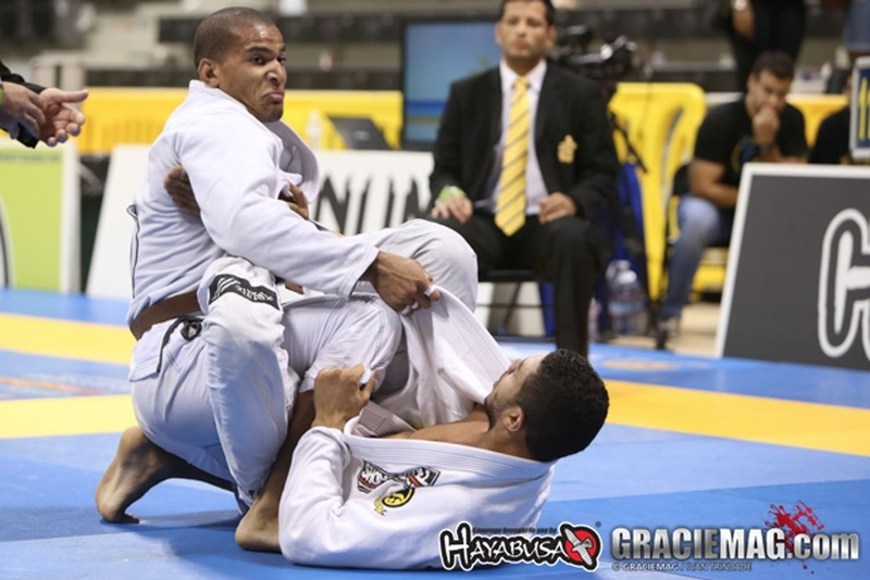 Mahamed Aly in action at BJJ Worlds 2015