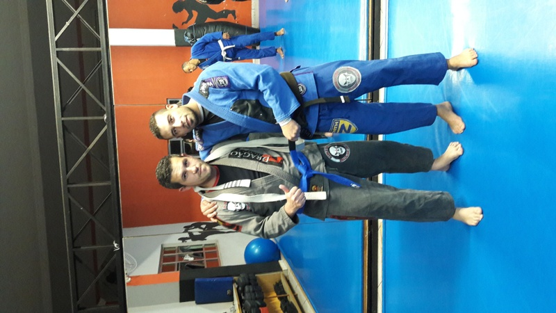 congratulations blue belt student..