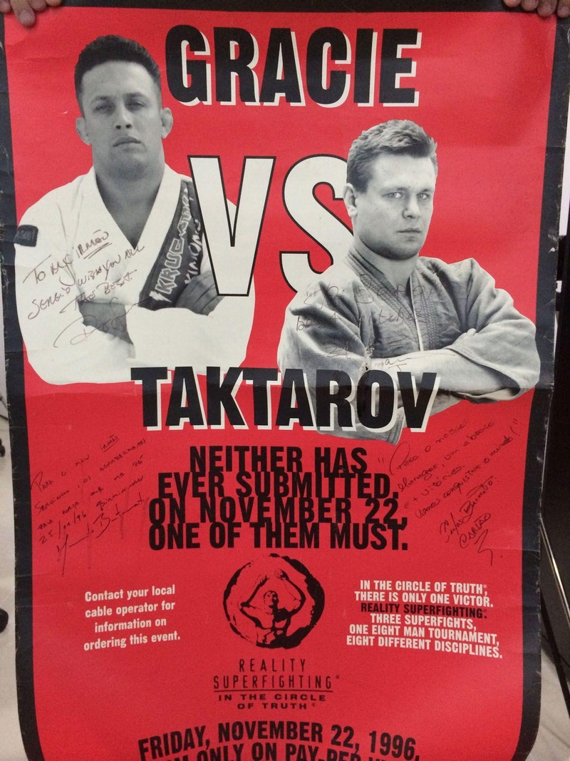 O carta do evento destaca o duelo entre Renzo Gracie e Oleg Taktarov