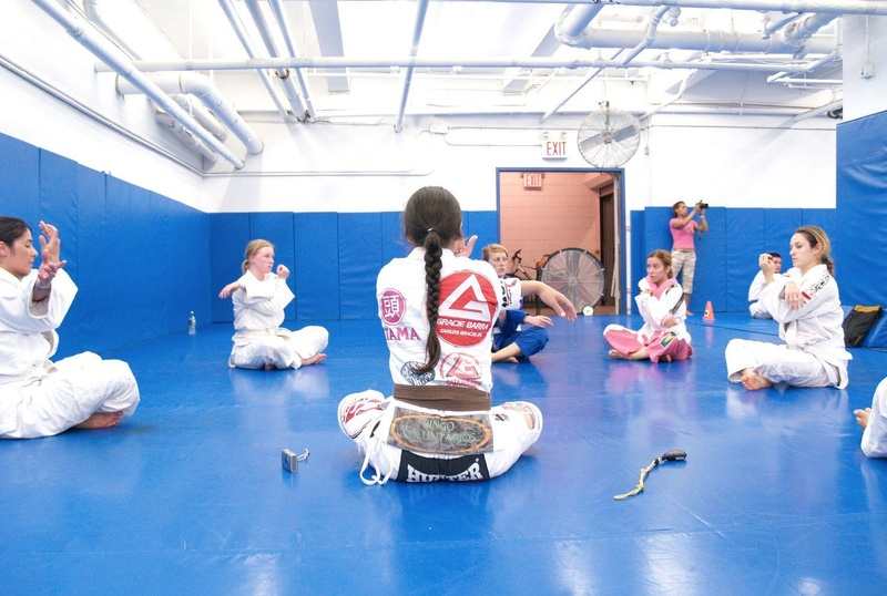 Kyra Gracie's exclusive female class in New York