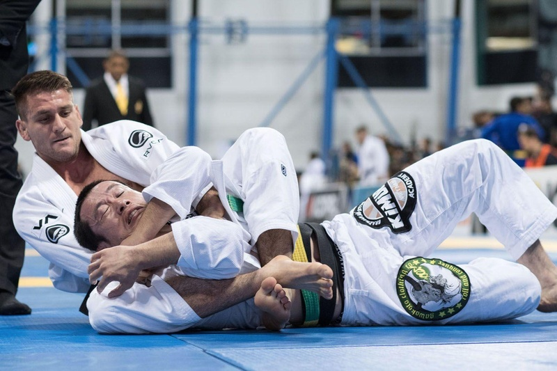 Rafael Mendes in action at BJJ Worlds 2016