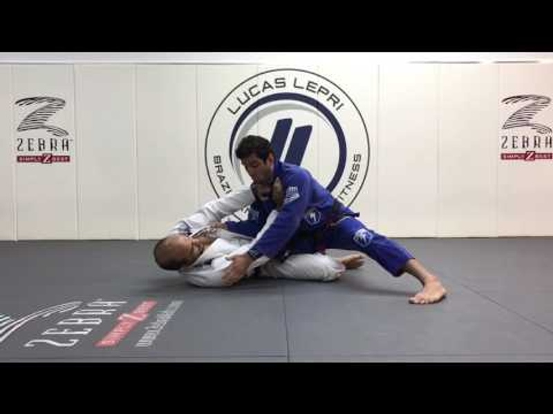 BJJ: Run over the guard player with this pass taught by Lucas Lepri