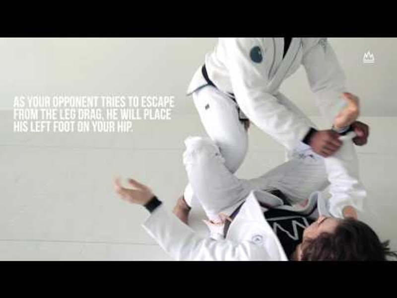 BJJ: Learn how to apply the Estima lock starting from the leg drag