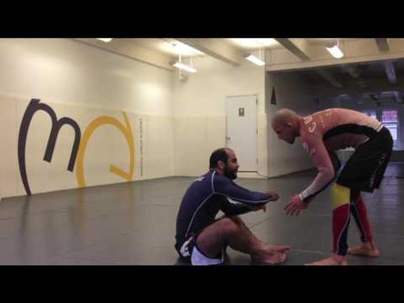 BJJ: Bernardo Faria teaches a trap for using the arm drag from butterfly guard